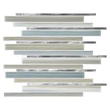 Kitchen Tile Backsplash Lowes American Olean Quicksilver Mixed Material Glass And Metal Mosaic
