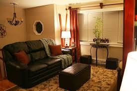 Burnt Orange And Brown Living Room Concept New Decorating Design