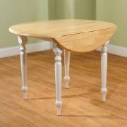 round kitchen table. round drop-leaf dining table, white/natural kitchen table h