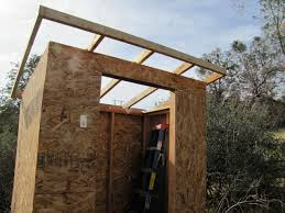 since the shed is so small the sheathing went on without a hitch