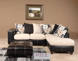 Living Room Furniture Ct Beige Fabric Black Vinyl Modern Sectional Sofa W Options