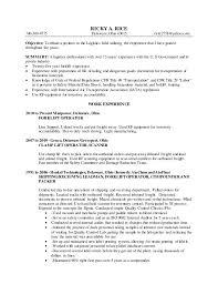 Ricky Rice Resume