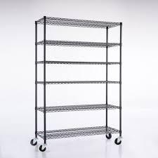 82 x48 x18 6 tier layer wire shelving rack heavy duty steel shelf