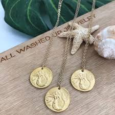 mermaid coin necklace gallery photo