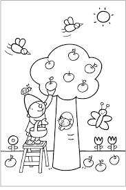 Kleurplaat Pompom Appelboom Printables Fall Coloring Pages