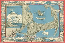 Cape Cod Chart File 1945 Miller Map Of Cape Cod Massachusetts