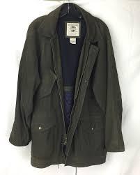 details about original banana republic safari jacket size small vintage green leather pre gap