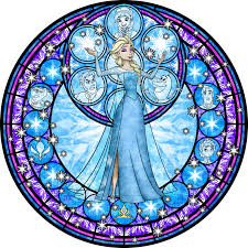 Small Picture Elsa Stained Glass Vector by Akili Amethystdeviantartcom on