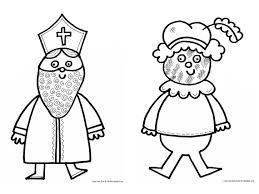 Kleurplaat Sinterklaas En Piet En Andersom Niet Sinterklaas