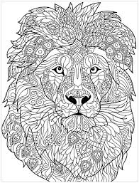 Lion Coloring Sheet With Childrens Colouring Pages Also Guard