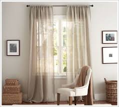 pottery barn sheer curtain panels