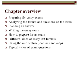 the call to write third edition ppt  chapter overview preparing for essay exams