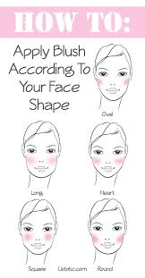 how to apply blush according to your face shape makeup tips and tricks