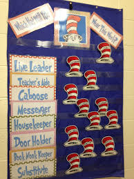 First Grade Classroom Job Chart Dr Seuss Job Chart Love It Preschool Classroom