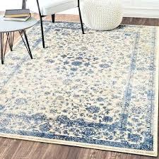big blue rug blue and gray