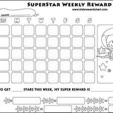 Weekly Reward Chart Printable Kids Reward Charts Free Childrens Printables Reward