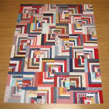 Happy Quilting: Scrappy Log Cabin Quilt Top & Scrappy Log Cabin Quilt Top Adamdwight.com
