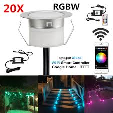 Us 189 99 20pcs Lot Rgbw Rgb Warm White Terrace Soffit Led Deck Rail Stair Lights Waterproof Smart Wifi Controller For Alexa Google Home In Led