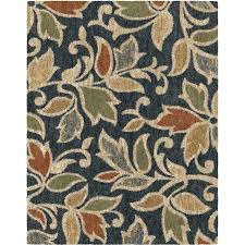 allen roth and blue indoor area rug common 9 x