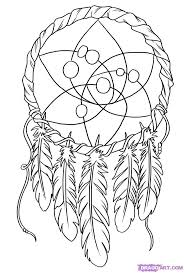 Dream Catcher Coloring Pages Coloringtop Com