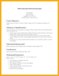Receptionist Resume Objective Emelcotest Com