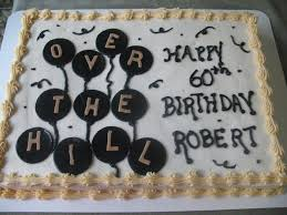 60th Birthday Sheet Cake Ideas Over The Hill Birthday Cakes For Men