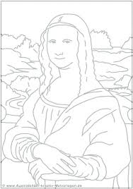 Mona Lisa Coloring Page Enchanted Learning My Localdea