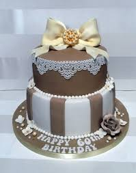 Vintage Style 60th Birthday Cake Bakealous
