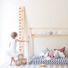 Ruler Height Chart In Natural Wood