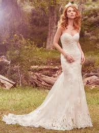simple fit and flare wedding dress kleinfeld bridal