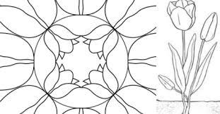 Tulp Kleurplaat Mandala En Infoblad Yurls Nieuws En Tips