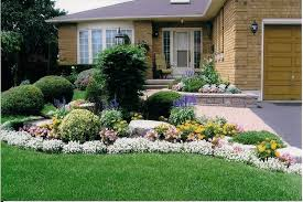Spring time front yard curb appeal