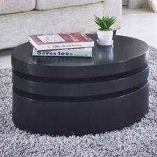 round black coffee table. Perfect Black Modern Black Coffee Table Round Rotating Contemporary Living Room Furniture And