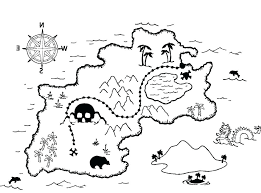Map Coloring Pages Treasure Map Coloring Page Pages Pirate For Kids