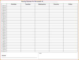 Week Hourly Calendar Weekly Hourly Planner Template Business