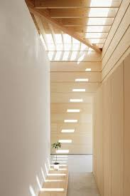 roof lighting design. slotted roof covers entry way lighting design