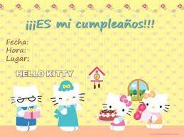 Invitaciones De Cumpleaños Hello Kitty