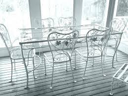 white wrought iron furniture. Patio: White Wrought Iron Patio Table Elegant Furniture Or Inspirational And Metal Set Best Vintage I
