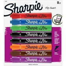 Walmart Flip Chart Sharpie Flip Chart Markers Bullet Tip Assorted Colors 8