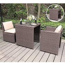 sunsitt outdoor wicker bistro table set