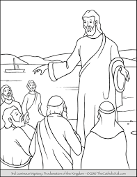 Small Picture Luminous Mysteries Rosary Coloring Pages The Catholic Kid