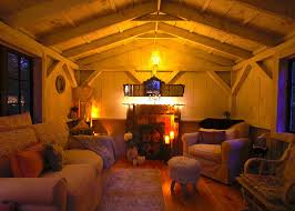 cottage office. 12x16 Cute Shabby-Chic Home Office Cottage -Nighttime Interior