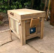 ice chest tables view larger making wooden rustic building plans patio