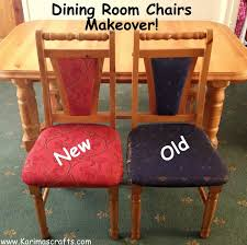 2 dining chair reupholstered muslim on how to recover a dining room chair seat