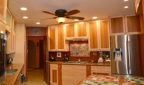 Kitchen Ceiling Fans With Lights Attractive Black Metal Kitchen Ceiling Fan With Light Over The