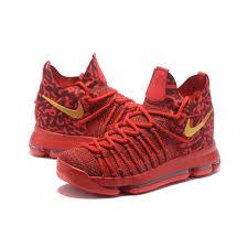 nike basketball shoes 2017 kd. 2017 nike zoom kd 9 elite varsity red gold basketball shoes kd