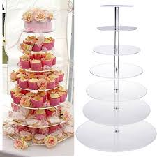 Party Food Display Stands Simple 32 Tier Round Cupcake Stand Party Clear Acrylic Cake Tower Wedding