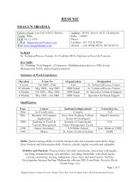 Format Format For Resume For Freshers