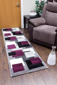 tempo squares runner rug black purple tempo squares runner rug black purple