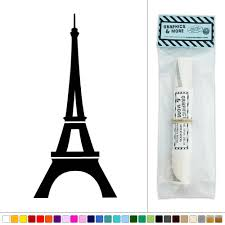 about eiffel tower silhouette vinyl sticker decal wall art dcor